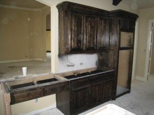 cabinet staining & finishing
