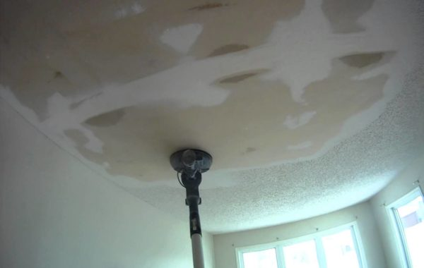 after removing texture coated ceiling